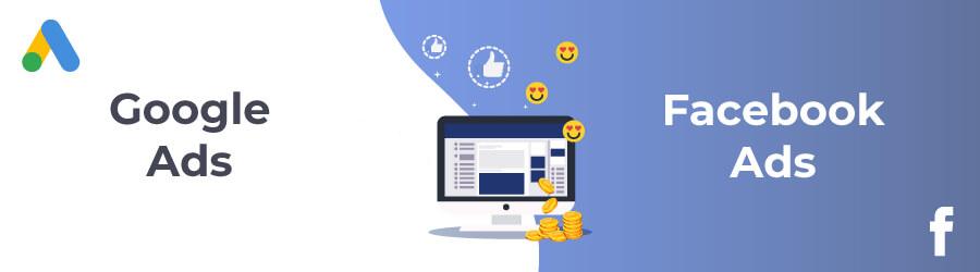 Anúncios no Google Ads e Facebook Ads